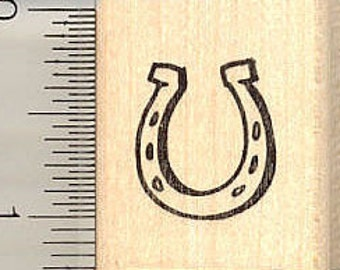 Small Horseshoe Rubber Stamp D10911 Wood Mounted