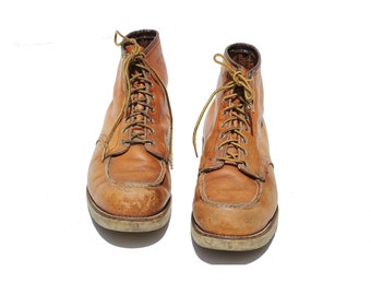 Vintage Red Wing Brown Leather Ankle Boots / Work Boots / size 14D