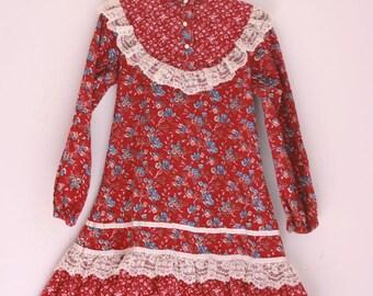 Vintage girls dress Kate Greenaway size 4/5T