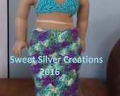 18 inch American Girl Crochet Pattern - Mermaid