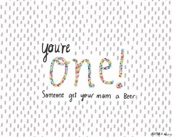 SALE: You're ONE first birthday card cc178
