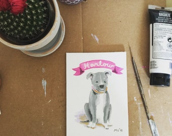 Custom Dog Portrait, original painting, dog, custom painting