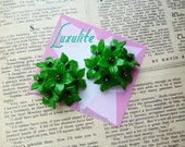 Floral Bouquet earrings - 1940's vintage inspired handmade earrings by Luxulite