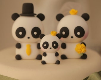 Panda  Wedding Cake Topper--k914