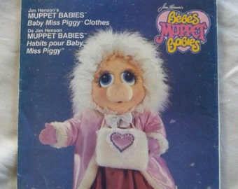 "Vintage Vogue Pattern 9398 Miss Piggy Muppet Babies 17"" Doll Clothes Complete Outfit"