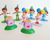 Candy Land tokens, Dora Diego Boots Backpack Board Game Pieces, Dora the Explorer game mover figurines party supply favors cake toppers Nick