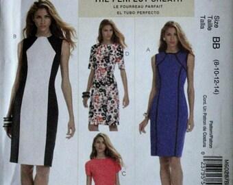 McCall's 6028 Sewing Pattern, The Perfect Sheath Dress, Palmer Pletsch, Sizes 8-1012-14, Bust 31.5-32.5-34-36, Uncut