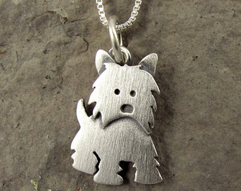 Tiny Westie necklace