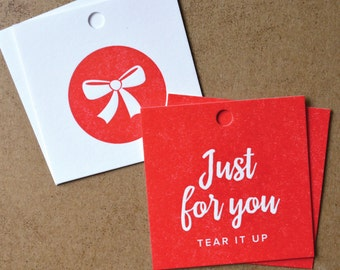 6 Letterpress Gift Tags
