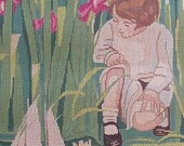 Child Lily Pond Sailboat JWS Handpainted Needlepoint Canvas # 16 DMC Matched Theodora