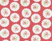 Sale - 2 yards, Lulu Roses by Tanya Whelan - Lotti TW094 Red