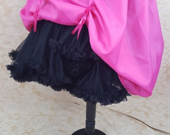 "Hot Pink Knee Length Bustle Skirt-One Size Fits Up To A 52"" Waist"