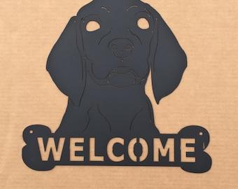 Welcome Dog Metal Wall Art  (C0)