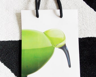 Original Iittala bird shopping bag/ Scandinavian designer paper bag tote/ Oiva Toikka /finland