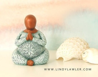 Sacred Pregnancy - Fertility Goddess Statue Doula Midwife Gift Figurine Sculpture Pagan Buddhist Altar Birth Art Blessingway Womb blessing