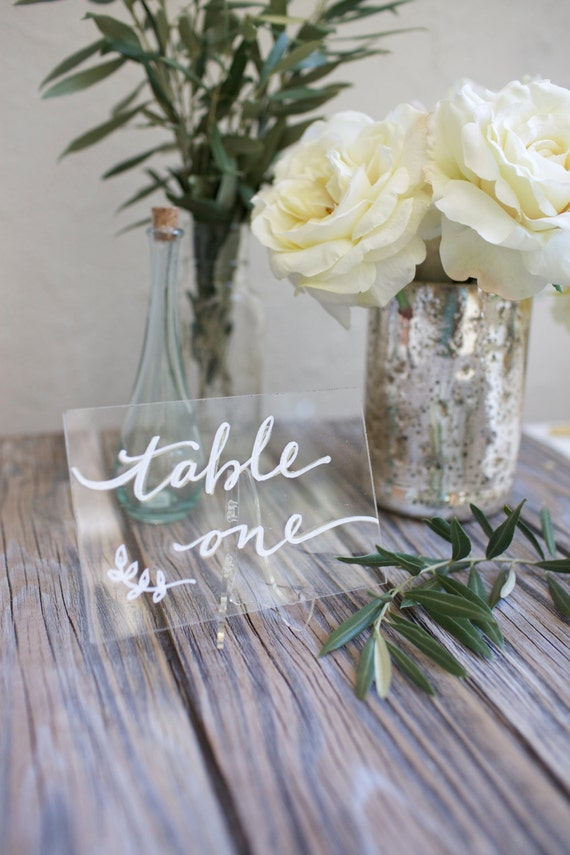 Acrylic Plexiglass Table Numbers Or Names By