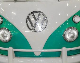 1963 Volkswagen Bus Car Photography, Automotive, Auto Dealer, Classic, Muscle, VW, Sports Car, Mechanic, Boys Room, Garage, Dealership Art