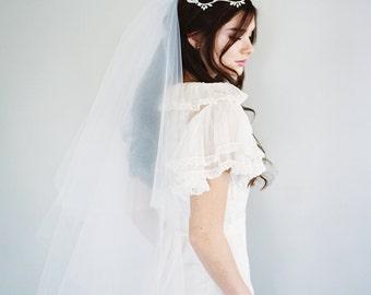 Drop Veil, Bridal Veil, Double Layer Veil, Two Tier Veil, Ivory Veil, Traditional Wedding Veil, Cathedral Veil, Simple Veil, 1106 + Gather