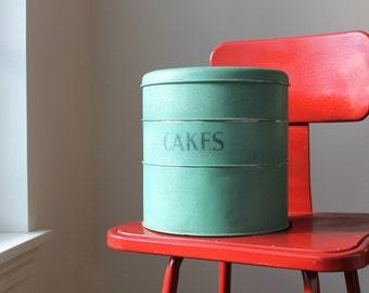 English Stacking Cake Tins, Tala Green Canister Set, Vintage Baking, English County Cottage Decor, Farmhouse Chic