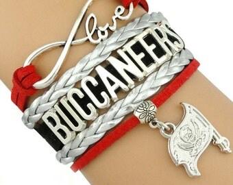 Buccaneers Football Handmade Infinity style Bracelet