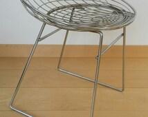 original PASTOE WiRE STOOL / Cees Braakman / 1960s / Chrome tomado holland chair / NO remake / 60s mid century dutch design