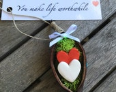 Sentimental You Make Life Worthwhile, Valentine's Day Hearts in a Pod, Gift for Her, Gift for Him, Romantic Valentines Day Gift, Small Gift