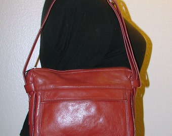 Vintage Small Amber Spice Leather Shoulder Bag