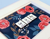 Science Personalized Name-Sign - Floral - Chemistry Gift - Wall Hanging - Home Decor - Name Plaque