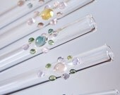 Glass Gem Drinking Straws