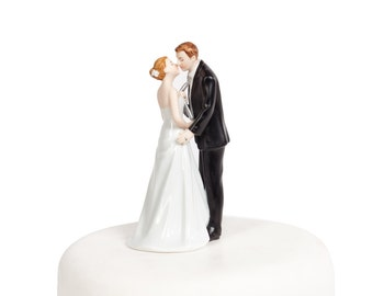 Tie(ing) the Knot  Funny Wedding Cake Topper - Custom Painted Hair Color Available - 707546