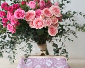 Lilac Alencon Parsley Lace Clutch | Bridal Clutch | Pastel Purple