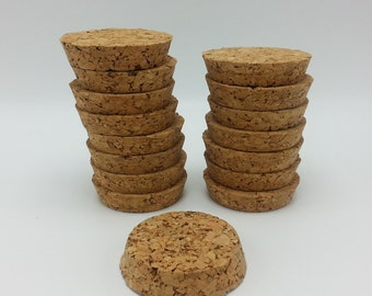 16 Large Round Short Cylinder Shaped Corks ,Repurpose Corks Lot, Ceramic Cork Topper Plug