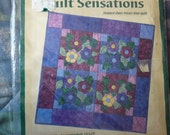 NEW --- Fabric Traditions Quilt Sensations - Stained Glass Posies Wall Quilt Kit