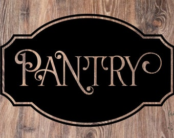Kitchen pantry decal, pantry wall decal, kitchen cupboard cabinet decal, vinyl letters for kitchen walls, pantry sticker, pantry door decal