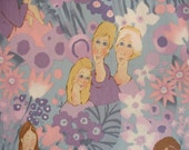 """ALEXANDER HENRY Fabric """"mother's day"""" Rare Lavender/Blue - 2001 - 1 Yard - #L2"""