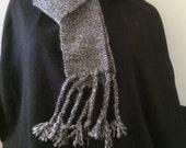 Scarf, Men's or Women's. Handwoven Tweed Undyed Alpaca. All Natural Alpaca Colors