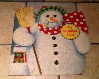 1965 The Snowman Book Golden Shape Children's Book