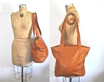 Sierra Brown Leather Tote / Market Bag / large purse