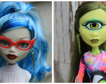 MTO Spike Earrings for Fashion Dolls 15 Different Colors fits 1/6th Scale Petite Slimline 16 inch BJD Monster Fairytale