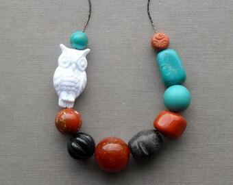 taliesin moon necklace - vintage lucite