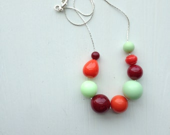 sriracha necklace - vintage lucite