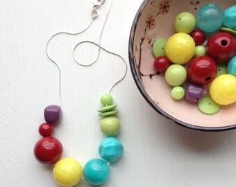 bright idea necklace - handmade, vintage lucite, remixed
