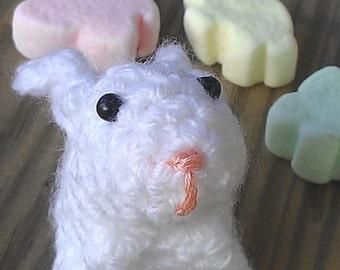 Wee Bunny - miniature crochet bunny - amigurumi rabbit - Easter bunny plush - by Moss Mountain