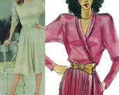 John Anthony Maxi Dress! Vintage 1980s Vogue American Designer John Anthony Sewing Pattern 2712, Misses' Dress Size 12, Uncut/FF