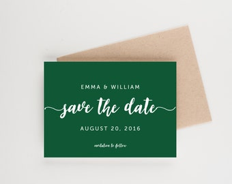 Modern Calligraphy Save The Date, Bridal Shower, Wedding Invitation