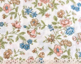 2 Flower Pillowcases with Lace by Bibb