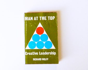 1960s Vintage Leadership Book / Mid Century Book with Graphic Cover / Vintage Religion and Leadership Book