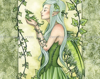 LAST ONE Ivy fairy 8X10 PRINT by Amy Brown