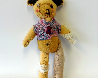 old teddy bear textile animal