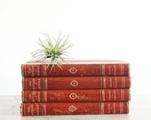 Antique Leather Bound Books / 1922 The Outline of Science / Complete Set of 4